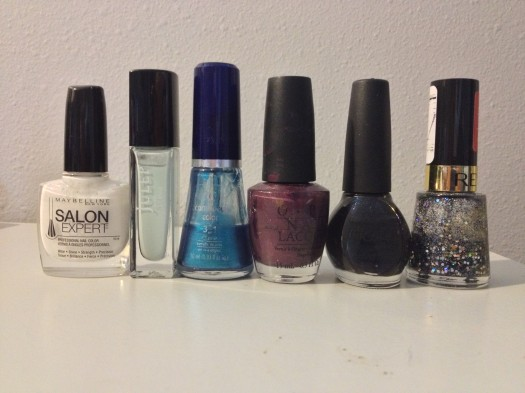 All the polishes I used