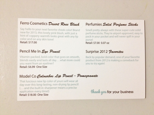 The product card