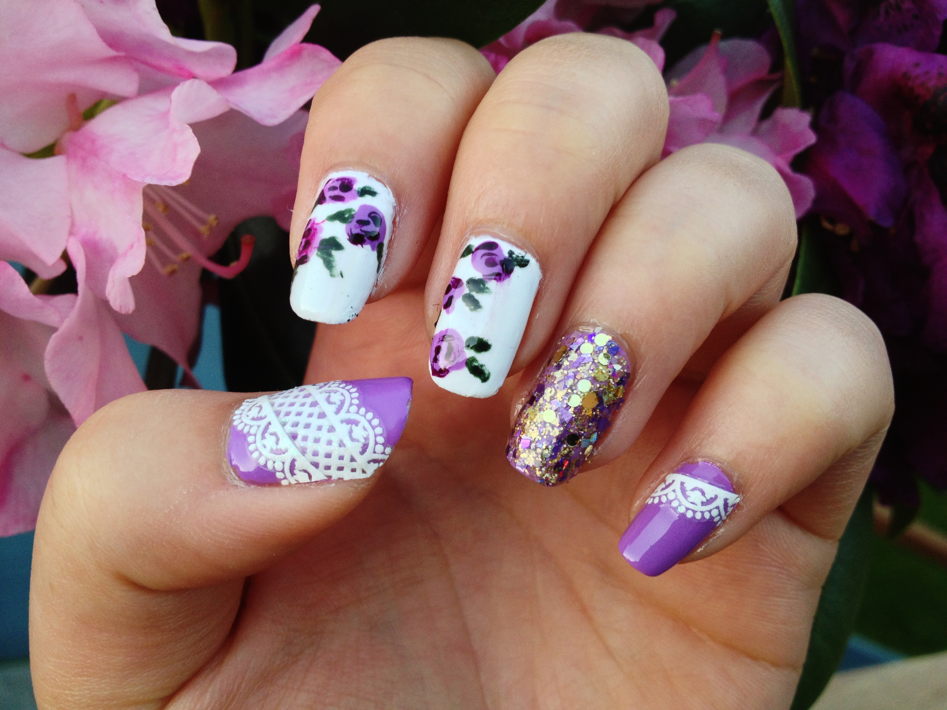 floral nails – betty tang