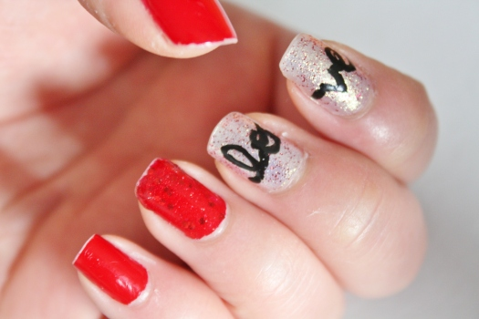 Valentines Day themed nails
